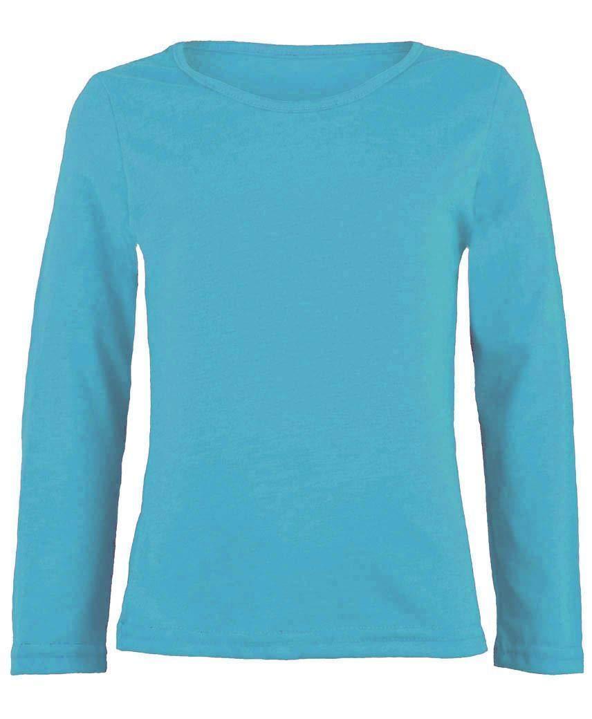 ZEE FASHION Kids Plain Basic Top Long Sleeve Girls Boys Uniform T-Shirt Tops 2-13 Years