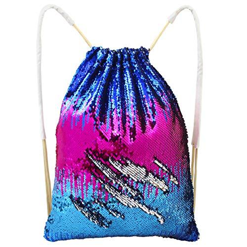 955ef0a9f Play Tailor Mermaid drawstring Bag, Sequin Bag Reversible Sequin Backpack  Sling Bag Dance bag