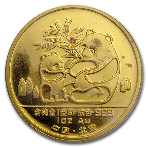 (1988 CN China 1 oz Proof Gold Panda (New Orleans w/Box & COA) 1 OZ About Uncirculated)