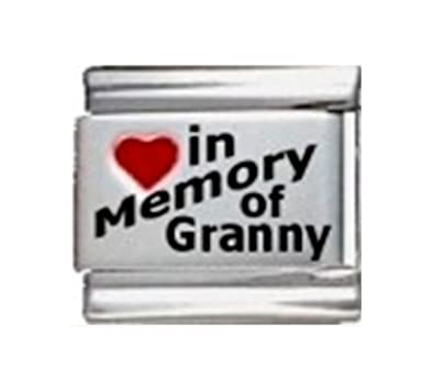 Italian Charm Stainless Steel In Memory Of My Grandma Fashion Jewelry