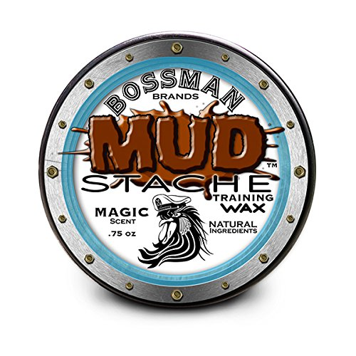 Bossman MUDstache Mustache Training Wax – .75 oz easy application water based (Magic Scent)
