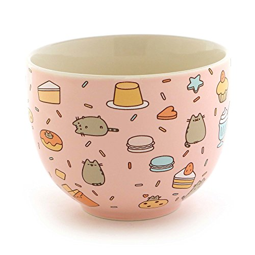 "Pusheen by Our Name is Mud ""Snack Bowl"" Stoneware Bowl (Cat Bowl Retro)"