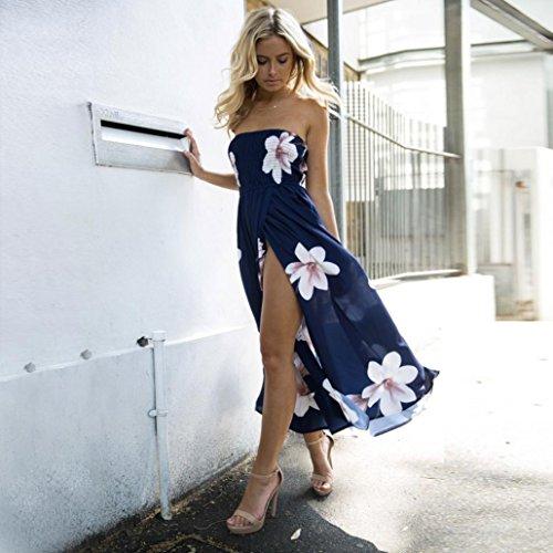 del Dragon868 de Mujer Las Playa Mujeres para Hombro Sundrss de Fuera Vestido Vestido Verano de Verano Largo Vestido Bohemio Maxi Marina BqwIY