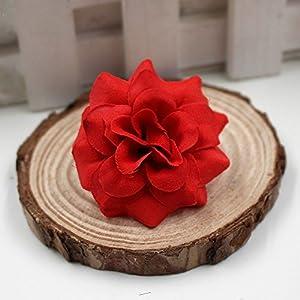 40pcs/lot 4cm Handmade Mini Artificial Silk Rose Flowers Heads DIY Scrapbooking Flower Kiss Ball For Wedding Decorative 4