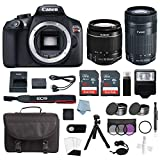 Canon EOS Rebel T6 Bundle With EF-S 18-55mm & EF 55-250 Lens + Advanced Accessory Kit -Including EVERYTHING You Need To Get Started For Sale