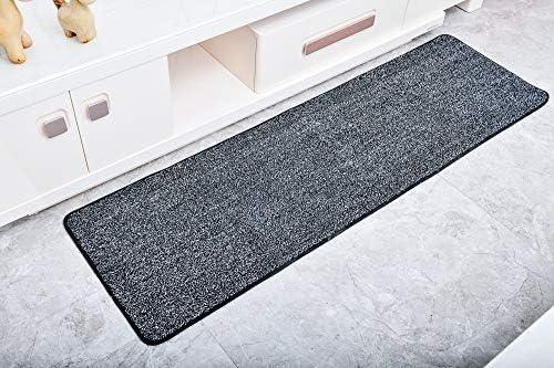 Vinsani Magic Clean Step Mat Non Slip Backing Machine Washable Doormat Carpet Runner Rug Liner Black White 45 X 150 Cm
