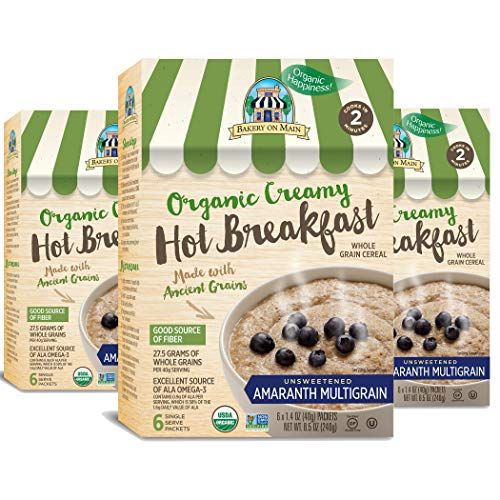 - Bakery On Main Gluten-Free, Organic Creamy Hot Breakfast, Amaranth Multigrain, 6 Count Box (Pack of 3)