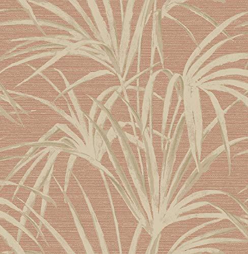 Beacon House 2669-21718 Song Fountain Palm Wallpaper, Coral