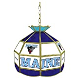 NCAA Maine 16-Inch Stained Glass Tiffany Lamp