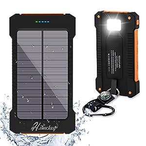 Amazon Com Solar Charger Hiluckey 10000mah Solar Power