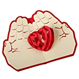 Greeting cards, Huhua 3D Pop Up Cards Valentine Lover Happy Birthday Anniversary Greeting Cards Postcard (A)