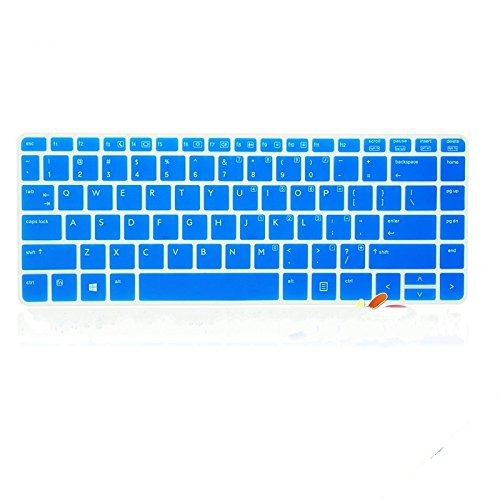 Leze Silicone Laptop Keyboard Cover Skin Protector for HP ProBook 430 G1, 440 G1, 445 G1, 640 G1, 645 G1 Series Us Layout Semi-Blue