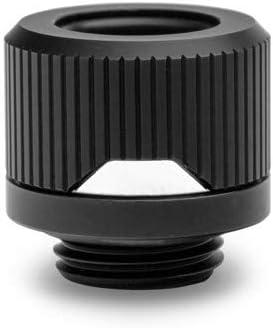 EKWB EK-Quantum Torque HTC-12 Compression Fitting for EKWB Rigid Tubing 12mm OD Black Nickel 4-Pack