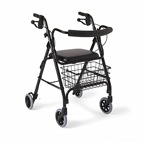 Medline Deluxe Folding Rollator Walker