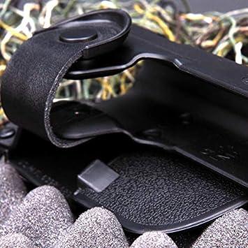 Jagdgewehr-Gewehr-Zusatz-Beutel-Gurt-Pistolenhalfter Airsoft-Pistolenhalfter for Ruger SR9 mit hellem Laser for Rugar for Glock 17 usw. Farbe : Schwarz NO LOGO X-Baofu