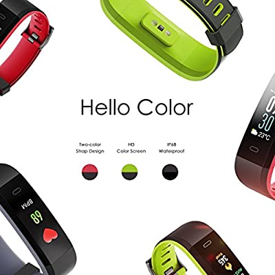 HQBEi Fitness Tracker, I5 Heart Rate Monitor Activity Tracker, Waterproof Bluetooth Fitness Watch Color Screen Smart Wristband Bracelet with PedometerSleep Monitor for Android iOS Smartphones