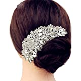 Luxury Bridal Wedding Flower Crystal Rhinestone Hair Clip Comb Pin Drops Alloy Bridesmaid wedding Accessories Jewelry
