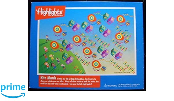 Amazon.com: Highlights For Children Kite Match 100 Piece Puzzle: Toys & Games