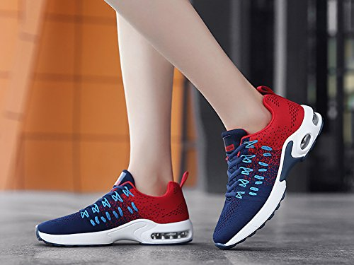 Running Air Men's Walking Town Sneakers Tennis Shoes No 66 Breathable Blue Lightweight Athletic Women's xfqxPw6