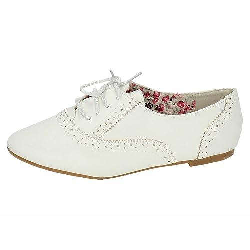ZAPATOP PA160 Zapatos Blucher NIÑA NIÑA Zapato COLEGIAL Blanco 29