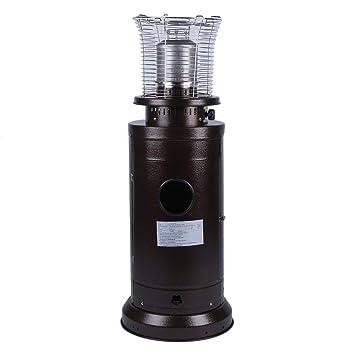 SWEEPID - Estufa de gas de acero inoxidable, para terraza, compacta, altura de 112 cm, ...