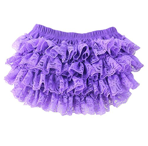 - VduanMo Infant Toddler Girl's Ruffled Lace Baby Diaper Bloomer Covers Small Purple