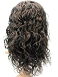 Tanya 100% Indian Remy Human Hair Lace Front Wig Malaysia Curly #1b/30 14inches