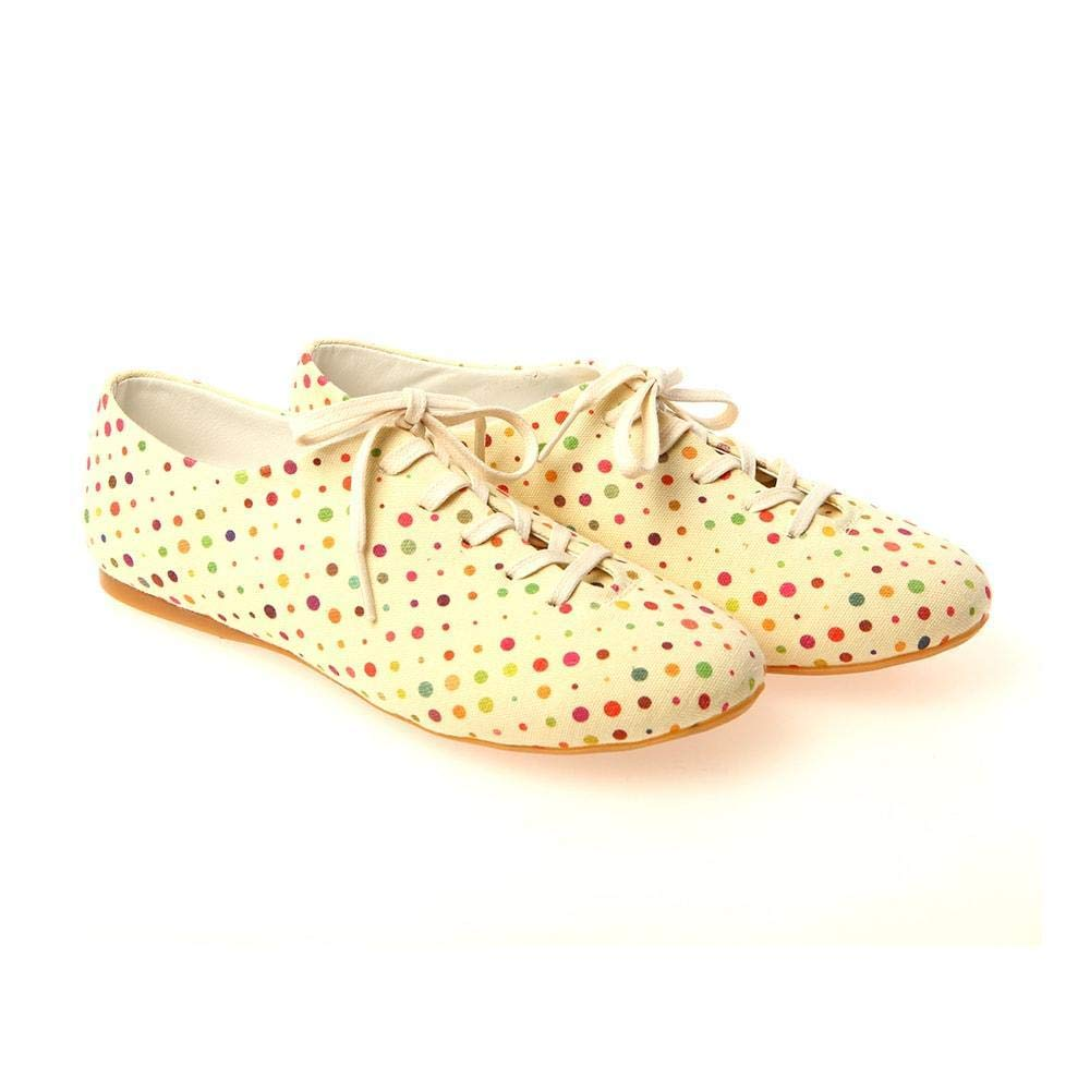 Colored Dots Ballerinas Shoes SLV034