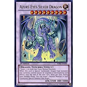 Amazon.com: YuGiOh : SDBE-EN040 1st Ed Azure-Eyes Silver ...
