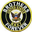 BROTHERS FOREVER US NAVY Military Veteran POW MIA VET Biker Vest Patch PAT-0360