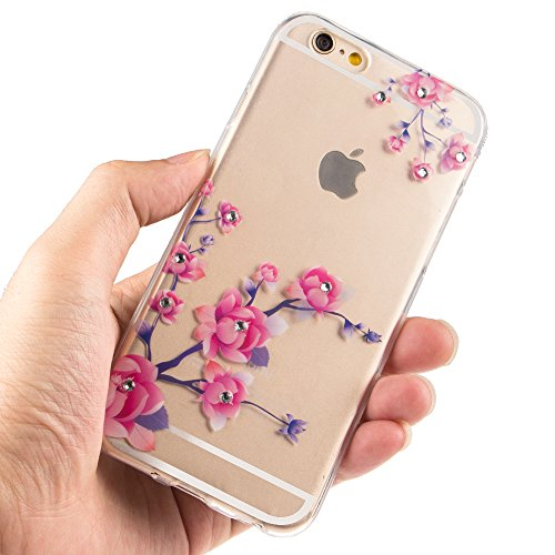 iPhone 7 Plus Hülle Silikon,iPhone 7 Plus (not für iPhone 7 4.7 Zoll) Hülle Glitzer,iPhone 7 Plus Crystal TPU Bumper Case Soft Transparent Silikon Schutzhülle Cover,iPhone 7 Plus Hülle Cristall,EMAXEL TPU 61