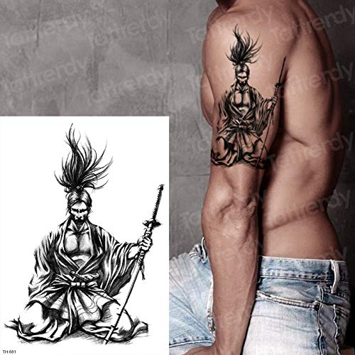 tzxdbh Samurai japonés Tatuajes diseños de Tatuajes Negros ...