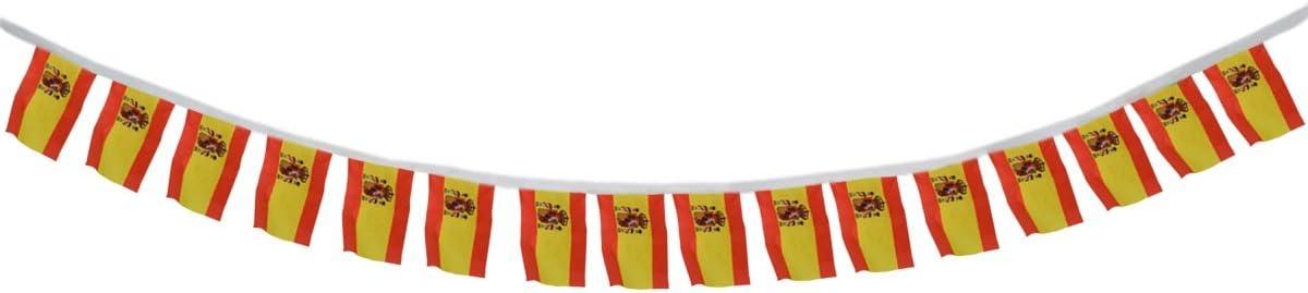 Sonia Originelli Fahnenkette Europa Girlande 7 Meter 24 L/änder Fan Fu/ßball