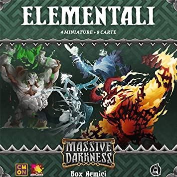 Asmodee- Massive Darknness Elementali - Juego de Mesa con Preciosos miniaturas, Color - MD004IT: Amazon.es: Juguetes y juegos
