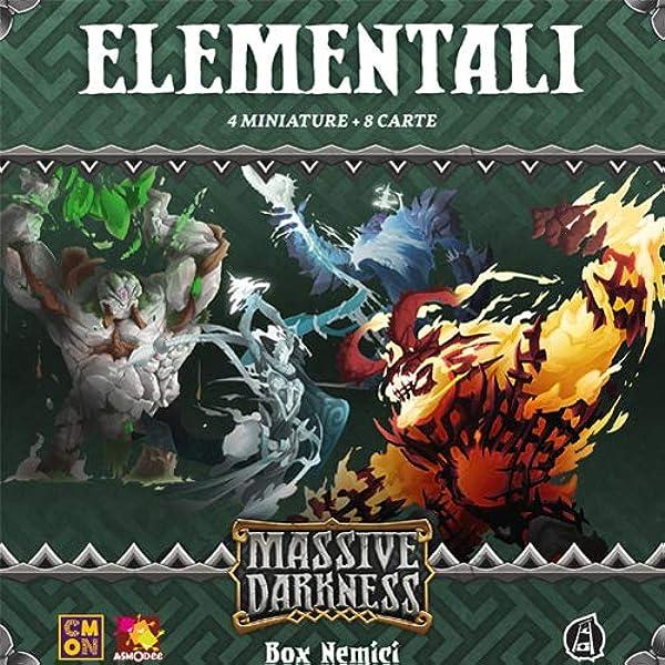 Asmodee Italia- Massive Darknness Elementales expansión Juego de Mesa con espléndidas miniaturas, Color, MD004IT: Amazon.es: Juguetes y juegos