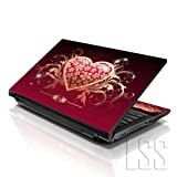 "LSS 15 15.6 inch Laptop Notebook Skin Sticker Cover Art Decal Fits 13.3"" 14"" 15.6"" 16"" HP Dell Lenovo Apple Asus Acer Compaq (Free 2 Wrist Pad Included) Sparkling Heart"