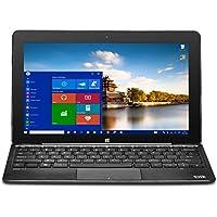 BIT W1004APB 10.1 Z8300 32G 4G abgn 2-In-1 Laptop/Tablet, Black
