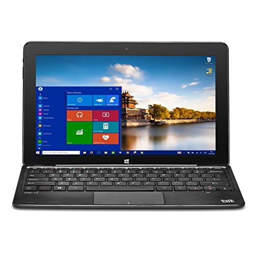 "BIT W1004APB 10.1"" Z8300 32G 4G abgn 2-In-1 Laptop/Tablet, Black W1004APB"