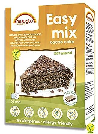 Muuglu Easy Mix Preparado para Bizcocho de Cacao Vegano sin ...
