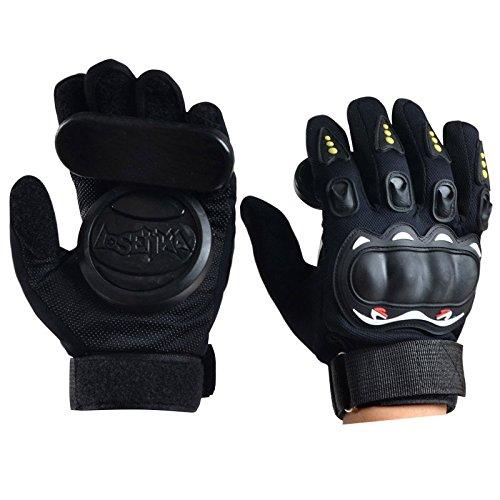 Forfar Skateboard Gloves Protector Armguard Thicker Foam Downhill Freeride Slide Sliding Protective Palm Slider S