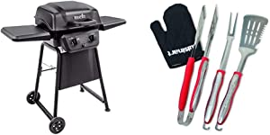 Char-Broil Classic 280 2-Burner Liquid Propane Gas Grill & Cuisinart CGS-134 Grilling Tool Set with Grill Glove, Red (3-Piece)