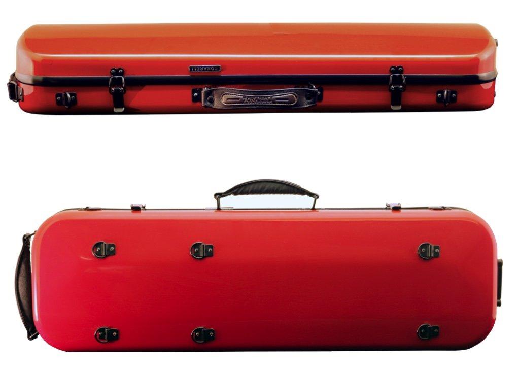 Tonareli Violin Oblong Fiberglass Case- Dark Red 4/4 VNFO 1004