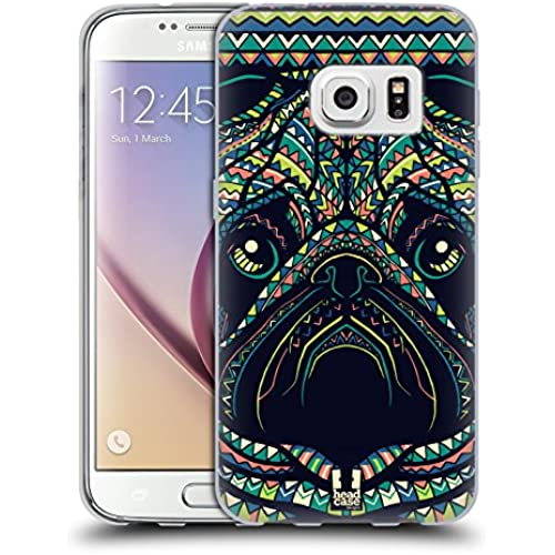 Head Case Designs Pug Aztec Animal Faces 3 Soft Gel Case for Samsung Galaxy S7 Sales