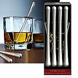 CorkPops - Nicholas Stainless Steel Ice Martini Stirrers, Set of 4