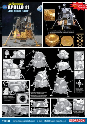 "Dragon Models 1/48 Apollo 11 Lunar Module ""Eagle"""