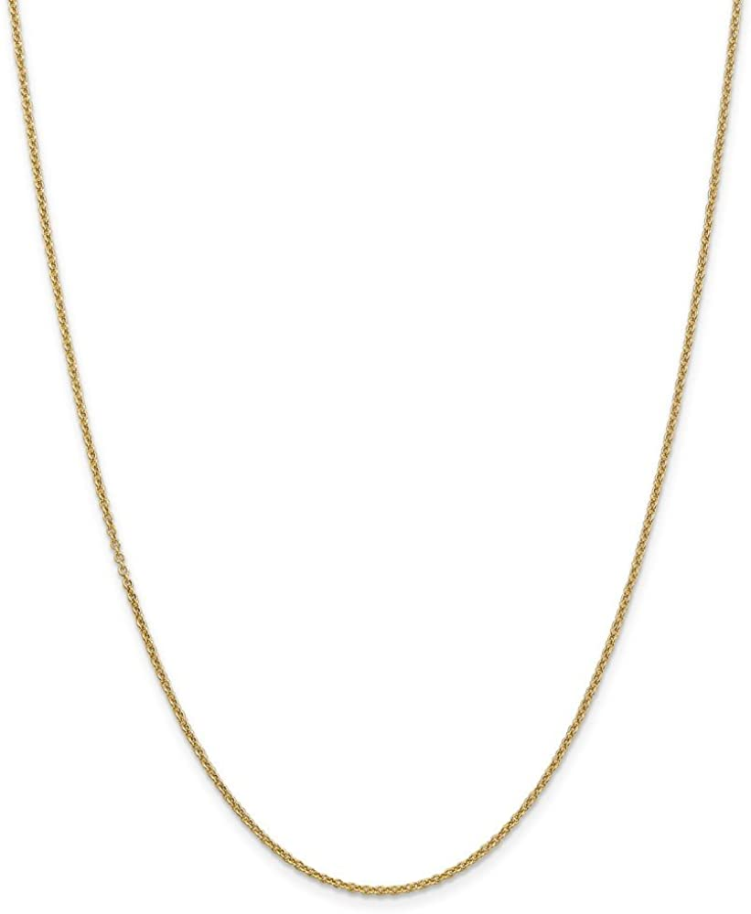 14k Yellow Gold 1.6mm Cable Chain Necklace 3.95g
