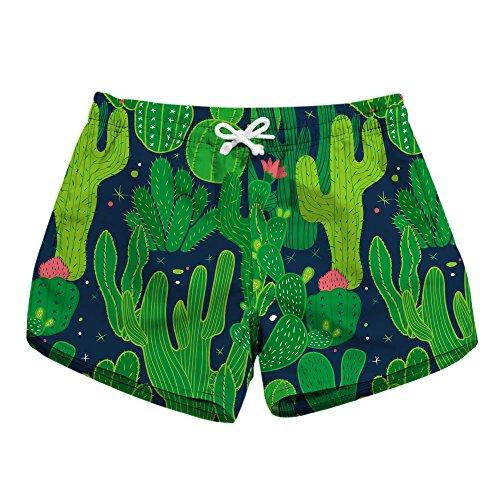 Honeystore Women's Casual Swim Trunks Quick Dry Print Boardshort Beach Shorts Green...