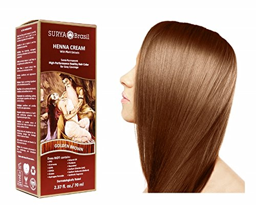 SURYA Brasil - Henna Haarfarbe Creme, goldbraun, 1x70ml