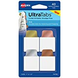 AVERY Ultra Tabs Repositionable Mini Tabs, Two-Side Writable, 1 x 1-1/2, Metallics, 40 Tabs