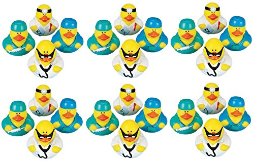 Lot Of 24 Doctor / Intern ~ Rubber Ducks ~ Ducky Party Favors /Gifts by FX
